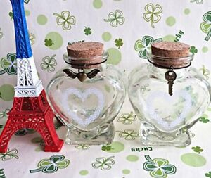 Heart Glass Mini Bottles With Cork Cover Suitable For Gifts Souvenir Accessories