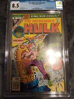 The incredible Hulk annual #6  1977 CGC 8.5