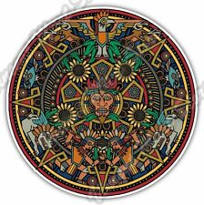 Aztec Mandala Maya Mayan Calendar Mexico Car Bumper Vinyl Sticker Decal 4.6""