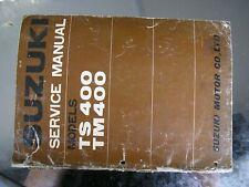 SUZUKI TM 400  TS 400 vintage classic twinshock ORIGINAL FACTORY MANUAL