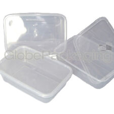 10 x PLASTIC 650ml MICROWAVE FOOD TAKEAWAY CONTAINERS