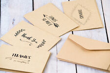 Thank You Cards | Set of 8 Thank You Cards | 4 Card Designs | Kraft Paper Thank