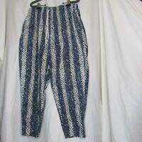 Vintage Parachute Hammer Pants Blue White Size Large 100% Cotton