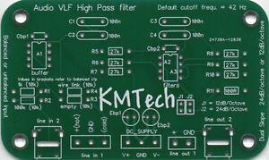 AUDIO VLF HIGH PASS FILTER WITH BALANCED OR UNBALANCED INPUT PCB ONLY DIY