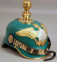 WWI Leather German Pickelhaube Officer's Helmet Prussian Imperial Helmet WK8