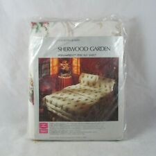 Vintage New Sears Single Flat Sheet Combed Percal 190 Thread White 63x108