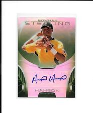 ALEN HANSON 2013 Bowman Sterling GREEN REFRACTOR AUTO RC /125 S.F. Giants *HOT*