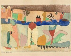 Paul Klee Park Landscape Canvas Print 16 x 20      #3597