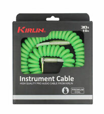 Kirlin Premium Coil 30ft Guitar Cable Green IMK202COILG