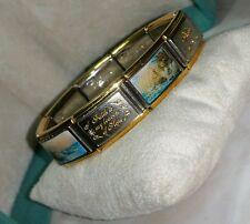 Bradford Exchange Thomas Kincade Yellow Gold/Stainless steel charm Bracelet BGE