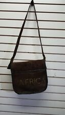 African Clothing African Map Print Suede Leather Shoulder Purse Bag E23445668
