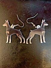 Acrylic Earrings, Doberman Pinscher, Dangle, 2 sided, puppy dog