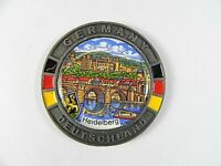 Heidelberg Schloss Metall Magnet Souvenir 5,5 cm,Germany,Deutschland
