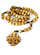 Hand Made Olive Wood Rosary Beads & Free Card Booklet ( READ DESCRIPTION )