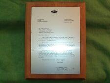 Vintage 1971 Ford Marketing Plaque - Wilson Motor Company - Ballard, Seattle, WA