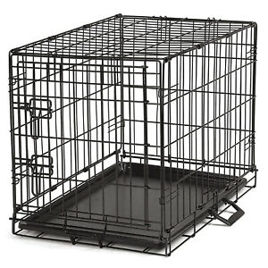 ProSelect Easy Crate Wire Kennel for Dogs and Pets with Tray, Medium, Black