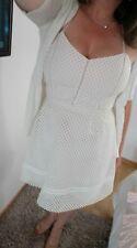 Sublime robe voile et tulle rose nude et blanche Naf Naf tres bon etat taille 42