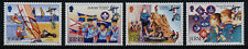 Jersey 1248-51 MNH Scouting, Boats, Musical instruments, Flag