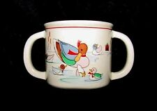 REDUCEDVintage DOUBLE HANDLE CHILD/TODDLER CUP EPOCH LITTLE DUCKLINGS, CERAMIC