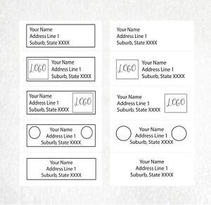 100 Custom Return Address Label Stickers 61x20mm - custom design by order
