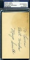 Mayo Smith Psa/dna Signed 3x5 Index Card Autograph Authentic