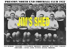 PRESTON NORTH END F.C.TEAM PRINT 1952 (SCOTT/WAYMAN/DOCHERTY/FINNEY)