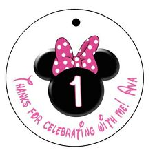 20 Minnie Mouse Favor Tags - Gift Tags Goody Bag Tags