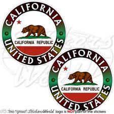 """California Estado californiano Bear Usa Latina 75 mm (3 """") Vinilo Stickers, Calcomanías X2"""