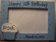 HAPPY BIRTHDAY personalized party children baby photo picture frame