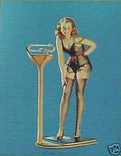 Woman Weighing Herself Pin-up by Elvgren!!!