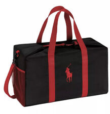 NEW POLO RALPH LAUREN RED BLACK DUFFLE BAG WEEKENDER TRAVEL GYM