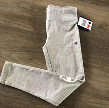 NEW Champion Girls Leggings Pants Gray Size S 8 Logo Athletic Wear