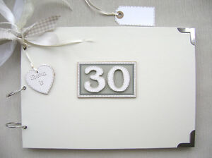 PERSONALISED. 30TH BIRTHDAY A4 SIZE..PHOTO ALBUM/SCRAPBOOK/MEMORY/GUEST BOOK.