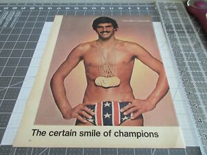 1972 Mark Spitz  Smile of Champions, Life Magazine Clip Out