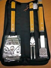 VW Early Bus BBQ Grill Tool Set Stainless Steel Barbecue Grilling Accessories