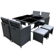 Set di tavoli e sedie da esterno nero