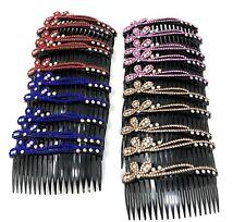 "18 pcs Hair Comb Women Plastic Decorative With 4"" Rhinestone Hair Side."