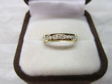 GORGEOUS ESTATE 14 KT GOLD .30 CTW DIAMOND BAND RING !!!!!