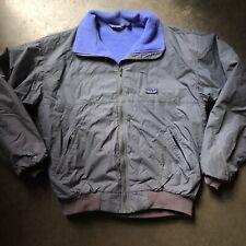 Men's Vintage Patagonia USA 80's Fleece Lined Windbreaker Bomber Zip Jacket Sz L