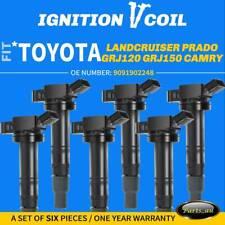 Set of 6x Ignition Coils for Toyota 4Runner  Landcruiser Prado Hilux 1GR-FE 4.0L