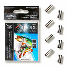 Savage Gear Double Barrel Crimps 50pcs Doppelklemmhülsen Angelzubehör Montage