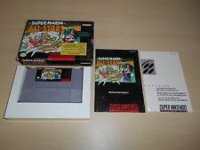 Super Mario All Stars Complete SNES Super Nintendo CIB Game AllStars