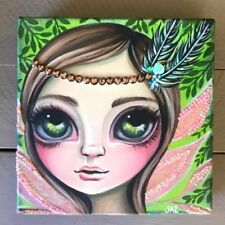 Small (up to 12in.) Pink Original Art Paintings