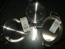 3 All-Clad Stainless Steel Pans all Oven safe to 600*F Specialty Cookware Set.