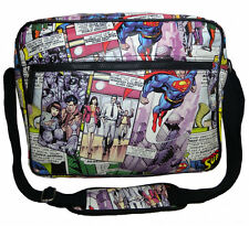 OFFICIAL DC COMICS SUPERMAN COMIC STRIP COLLAGE TILED PRINT MESSENGER BAG (NEW)