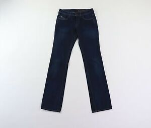 "Diesel Industry Women 28 33"" Inseam Organic Cotton Button Fly Straight Leg Jeans"