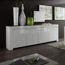 Mobile moderno Buffet Credenza Laccato Lucido Bianco Madia 4 ante modello Amalfi