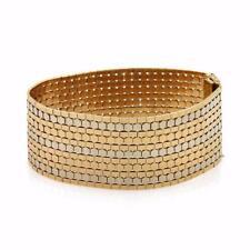 18k Gold 29mm Wide Soft Flex Octagon Style Bracelet 67gr!  LIQUIDATION