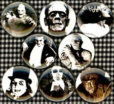 Universal Monsters set of 8 NEW 1 inch pins buttons badges dracula frankenstein