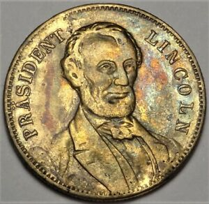 Prasident Lincoln Spiel Mark Composition $10 Size Gaming Counter Token